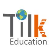 Logotipo Tilk con bola del mundo
